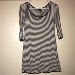 UO / BDG Black & White Stripe Dress Size L